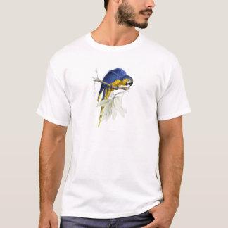 Vintager blauer und gelber Macaw-Papagei T-Shirt