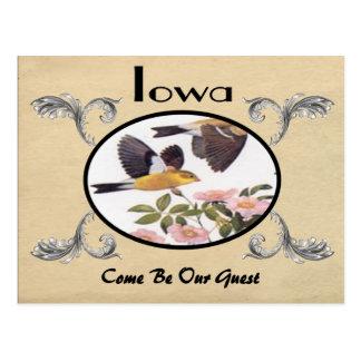 Vintager Blick-alter Postkarten-Iowa-Staat Postkarte