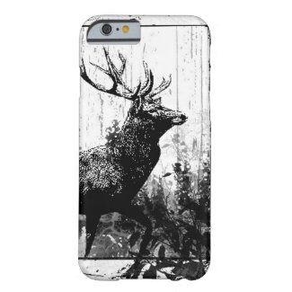 Vintage look Stag in Black and White, Deer Animal iPhone 6 Case