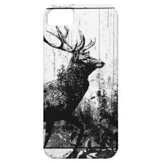 Vintager Blick Hirsch in Schwarzweiss, Rotwild-Tie iPhone 5 Hüllen