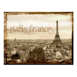 Vintager Blick Paris Frankreich Postkarten