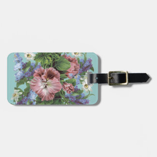 Vintager Blumen-Blumenstrauß Kofferanhänger