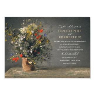 Vintager Blumen-Vasen-einzigartige kreative Karte