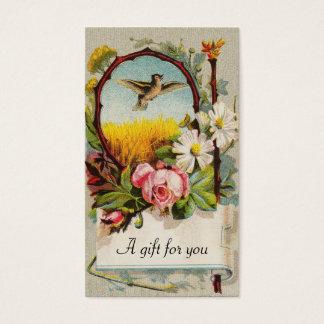 Vintager Blumengeschenk-Umbau Visitenkarte