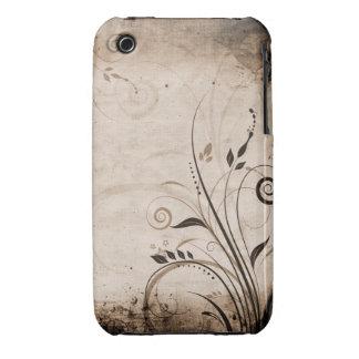 Vintager Blumengrunge-Entwurfs-BlackBerry-Kurvenka iPhone 3 Hülle