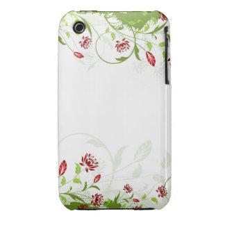 Vintager Blumengrunge-Entwurfs-BlackBerry-Kurvenka iPhone 3 Case-Mate Hüllen