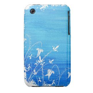 Vintager Blumengrunge-Entwurfs-BlackBerry-Kurvenka Case-Mate iPhone 3 Hülle