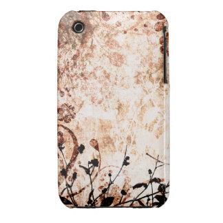 Vintager Blumengrunge-Entwurfs-BlackBerry-Kurvenka iPhone 3 Cover