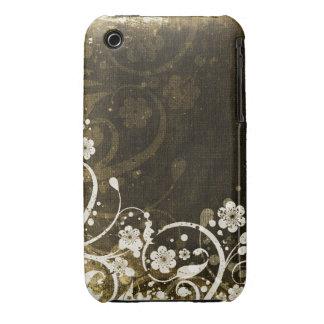 Vintager Blumengrunge-Entwurfs-BlackBerry-Kurvenka iPhone 3 Case-Mate Hülle