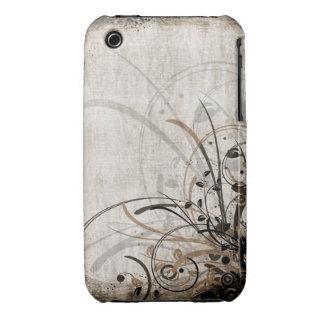 Vintager Blumengrunge-Entwurfs-BlackBerry-Kurvenka Case-Mate iPhone 3 Hüllen