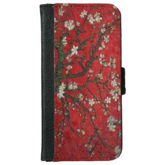 Vintager Blumenkirschblüten-Geldbörsen-Kasten iPhone 6/6s Geldbeutel Hülle