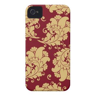 Vintager Blumenmuster Paisley-Tapete des Damastes iPhone 4 Case-Mate Hülle