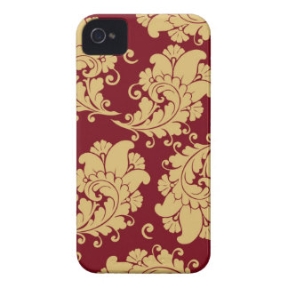 Vintager Blumenmuster Paisley-Tapete des Damastes iPhone 4 Cover