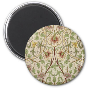 Vintager Blumentapeten-Entwurf - Narzisse Runder Magnet 5,1 Cm