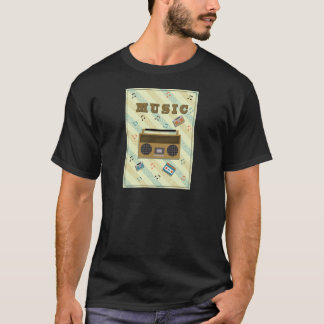 Vintager boombox Radio T-Shirt