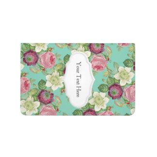 Vintager botanischer Blüten-LandChic Taschennotizbuch