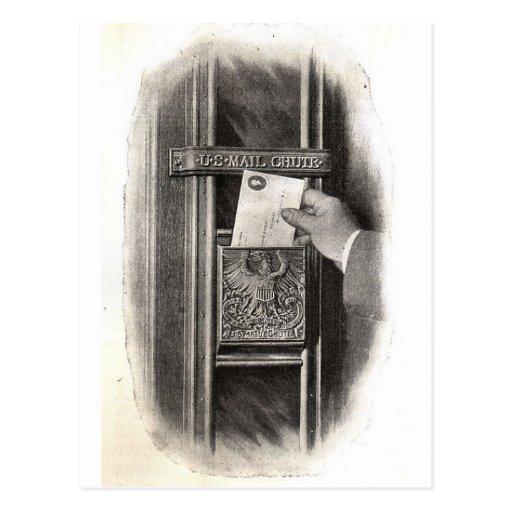 Vintager Briefkasten Postkarten