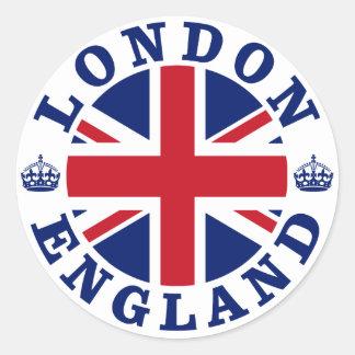 Vintager BRITISCHER Entwurf Londons Runder Aufkleber