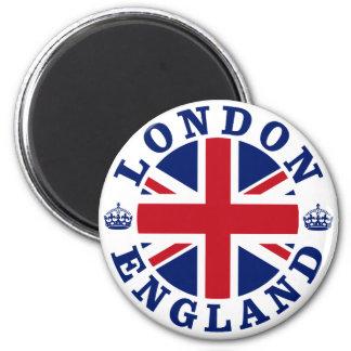 Vintager BRITISCHER Entwurf Londons Runder Magnet 5,1 Cm