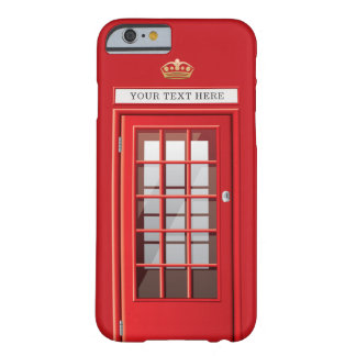 Vintager britischer roter barely there iPhone 6 hülle