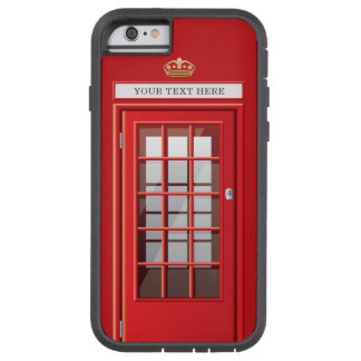 Vintager britischer roter tough xtreme iPhone 6 hülle