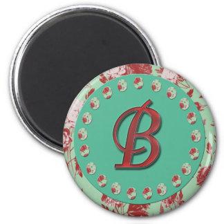 Vintager Buchstabe B Runder Magnet 5,7 Cm