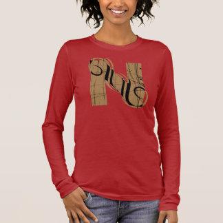 Vintager Buchstabe N Langarm T-Shirt