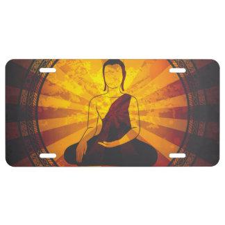 Vintager Buddha US Nummernschild