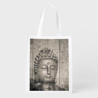 Vintager Buddha-Yoga-Glaube Wiederverwendbare Einkaufstasche