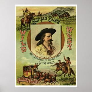 Vintager Büffel-Billwilde Westshow Poster