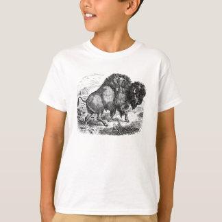 Vintager Büffel-Retro Bison-Tier-Illustration T-Shirt