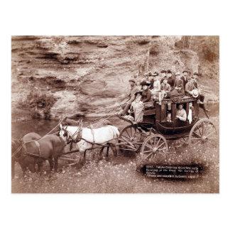 Vintager Bühne-Zug Postkarte