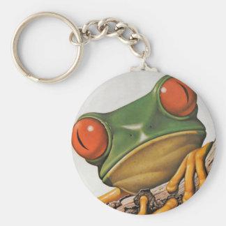 Vintager bunter Baum-Frosch Schlüsselanhänger
