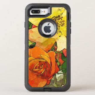 Vintager bunter mit Blumenhintergrund 2 der Kunst OtterBox Defender iPhone 8 Plus/7 Plus Hülle