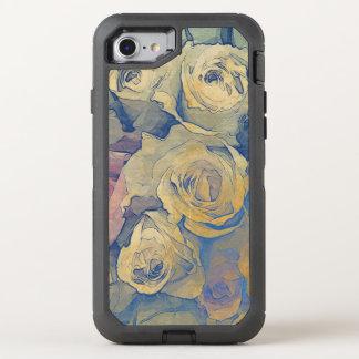 Vintager bunter mit Blumenhintergrund der Kunst OtterBox Defender iPhone 8/7 Hülle