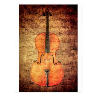 Vintager Cello Postkarte