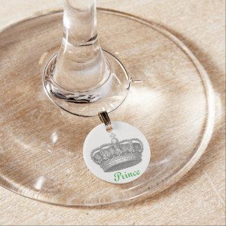 Vintager Charme Kronprinz-Wein Weinglas Anhänger
