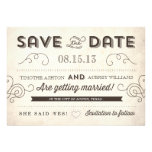 Vintager Charme Save the Date
