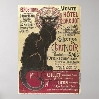 Vintager Chat Noir, Vente Hôtel Drouot Steinlen Poster