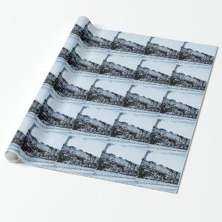 Vintager Chesapeake u. Ohio-Eisenbahn-Zug-Motor Geschenkpapier