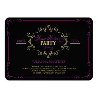 Vintager Chic blühen Bonbon ein 16 11,4 X 15,9 Cm Einladungskarte