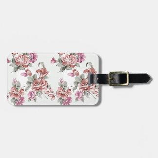Vintager Chic-schäbige Girly Blumen Gepäckanhänger