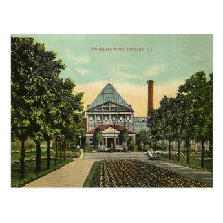 Vintager Chicago-Park Postkarte
