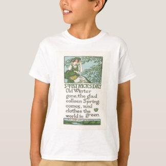 Vintager Colleen-Frühlings-Kleeblatt-St Patrick T-Shirt