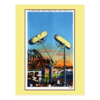 Vintager Coney-Insel Schleife-Oweg Postkarte