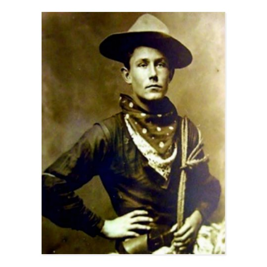 Vintager Cowboy 17 Postkarte