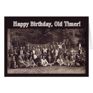 Vintager Cowboy-alles Gute zum Geburtstag Grußkarte
