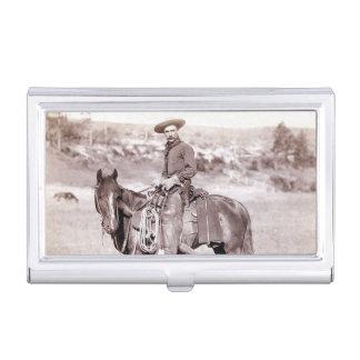 Vintager Cowboy-amerikanisches Westpferd Visitenkarten-Behälter