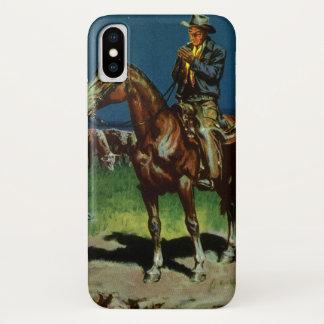 Vintager Cowboy, Vieh-Viehzüchter auf dem iPhone X Hülle
