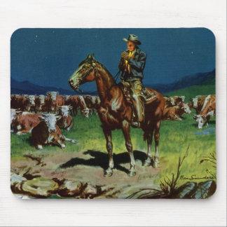 Vintager Cowboy, Vieh-Viehzüchter auf dem Mauspad